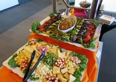 assorted antipasta cheese platter