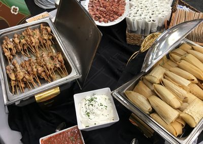 Southwest Tamales & Chicken Skewers